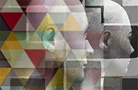 Конструктивный рисунок человека из геометрических фигур