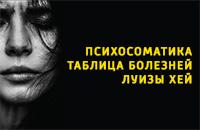 Психосоматика - таблица заболеваний Луизы Хей